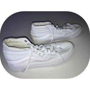 Vans sk8-hi white high tops